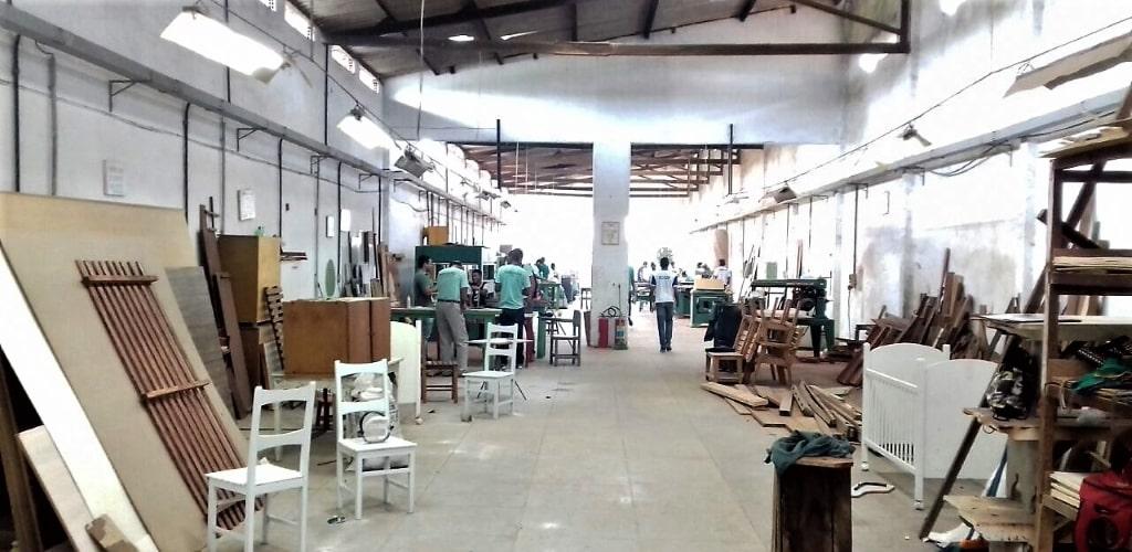 Il laboratorio di Falegnameria